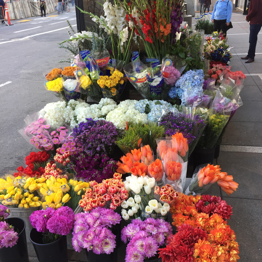 San Franciso street flowers