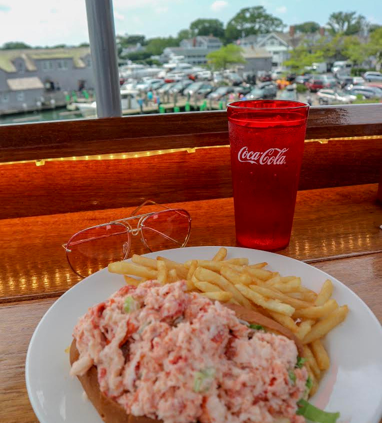Lobster roll with a view