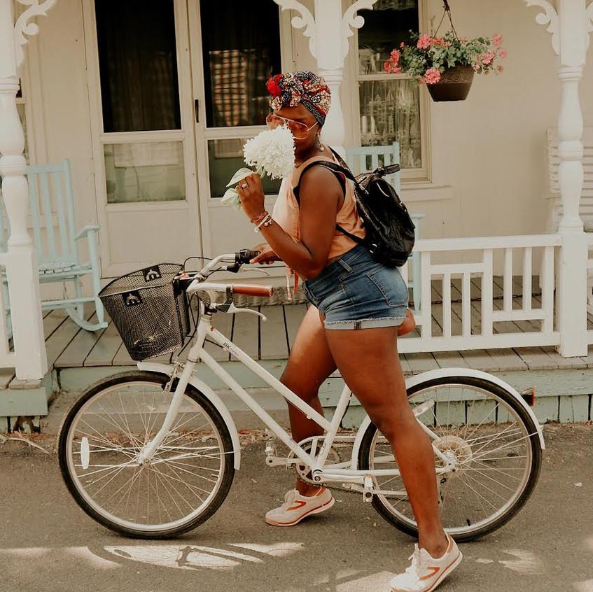 Biking to Oak Bluffs