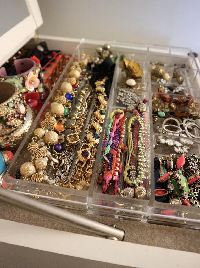 Colorful bracelets and necklaces