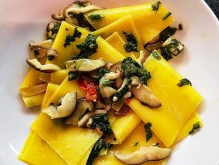 Shiitake mushroom, egg pasta recipe
