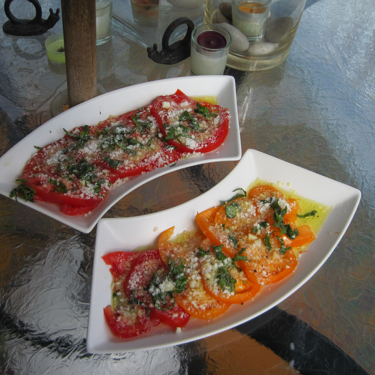 Simple tomatoes, evoo, parsley