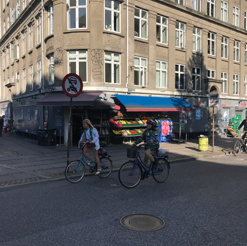 Children biking in Norrebro
