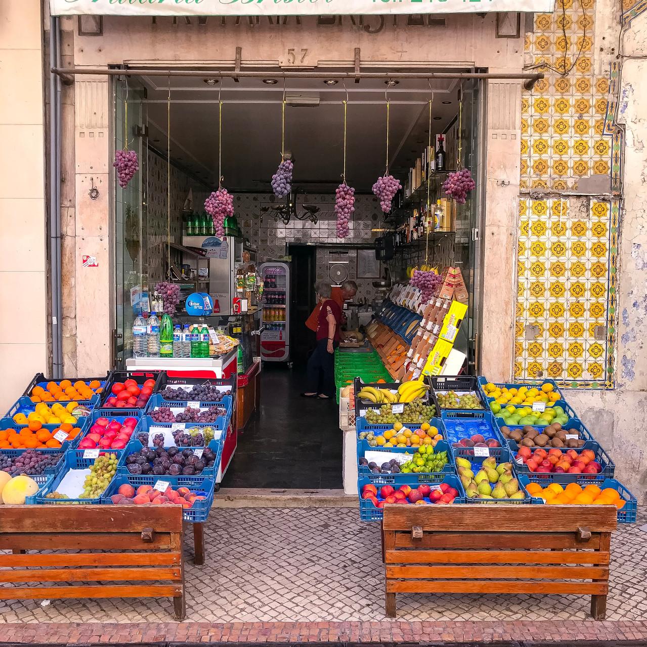 Local fruit stand Lisbon