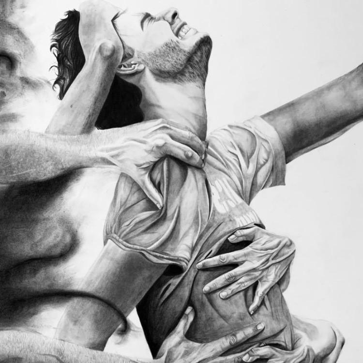 """Titolo dell'opera: """"Rimani con me"""" artista: Caterina Giorgi aa. 2019"""
