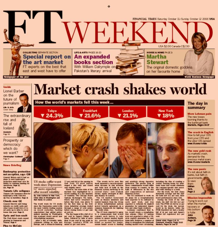 Il crollo del mercato scuote il mondo
