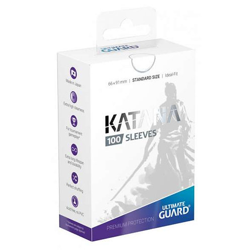 Ultimate Guard Katana Standard Size Sleeves 100's - White