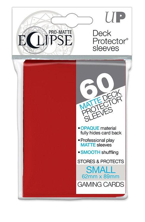 Ultra Pro Eclipse Matte Small 60pk - Apple Red