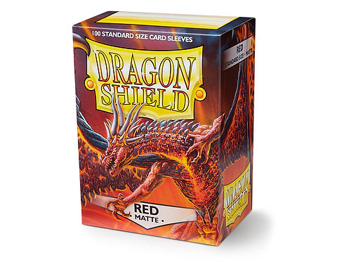 Dragon Shield Standard Size Sleeves 100's - Red 'Moltanis'