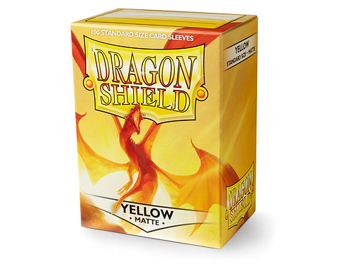 Dragon Shield Standard Size Sleeves 100's - Yellow 'Elichaphaz'