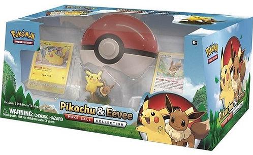 Pokemon Pikachu & Eevee Pokeball Collection