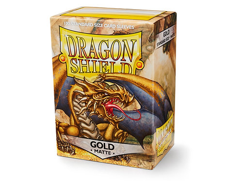 Dragon Shield Standard Size Sleeves 100's - Gold 'Gygex'
