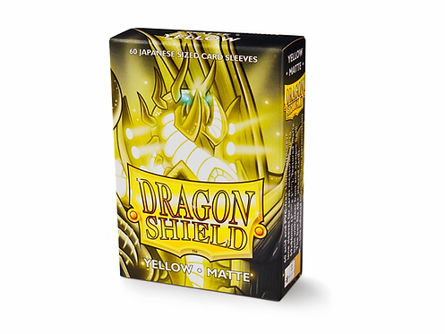 Dragon Shield Japanese Size Matte Sleeves 60's - Yellow 'SheSha'