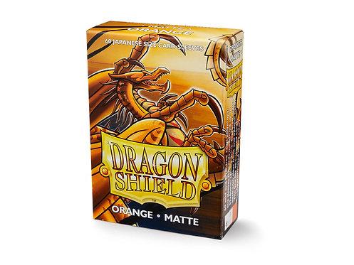 Dragon Shield Japanese Size Matte Sleeves 60's - Orange 'Kurang'