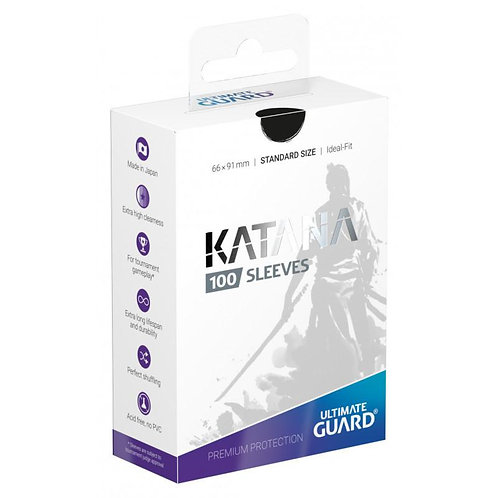 Ultimate Guard Katana Standard Size Sleeves 100's -Black