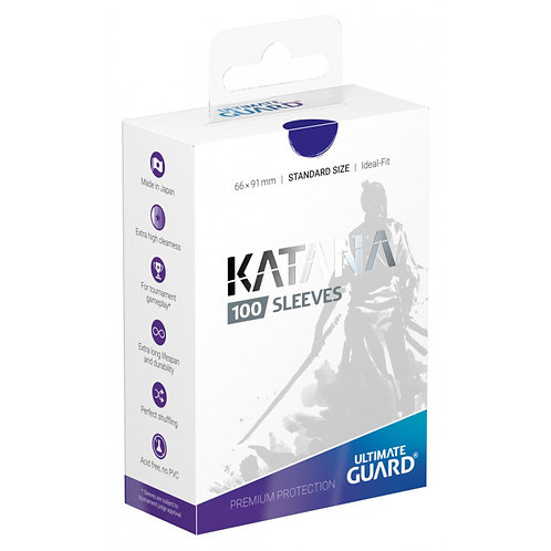 Ultimate Guard Katana Standard Size Sleeves 100's -Blue