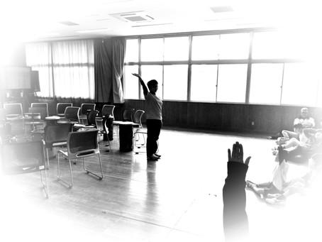 高知特別支援学校でドラムサークル