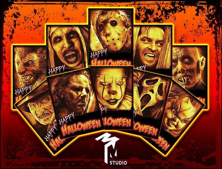 Halloween Card Set
