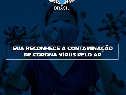 EUA reconhece a contaminação de Corona Vírus pelo ar