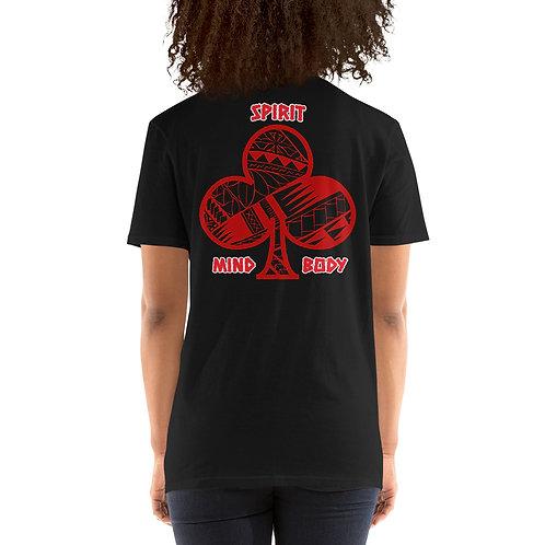 Short-Sleeve Unisex T-Shirt Kajukenbo series MBS Kaju Life red logo