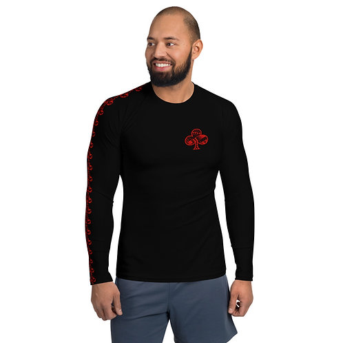 Men's Rash Guard Kajukenbo series Kaju Life black with red