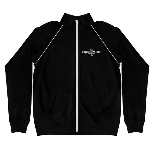 "Piped Fleece Jacket Kaju Life ""Impact"" Series White Logo"