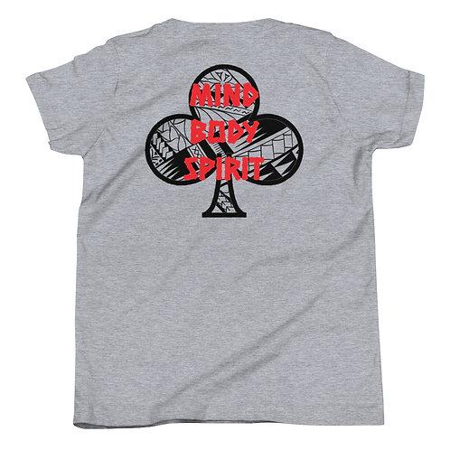 Youth Short Sleeve T-Shirt Kajukenbo series MBS Kaju Life black logo