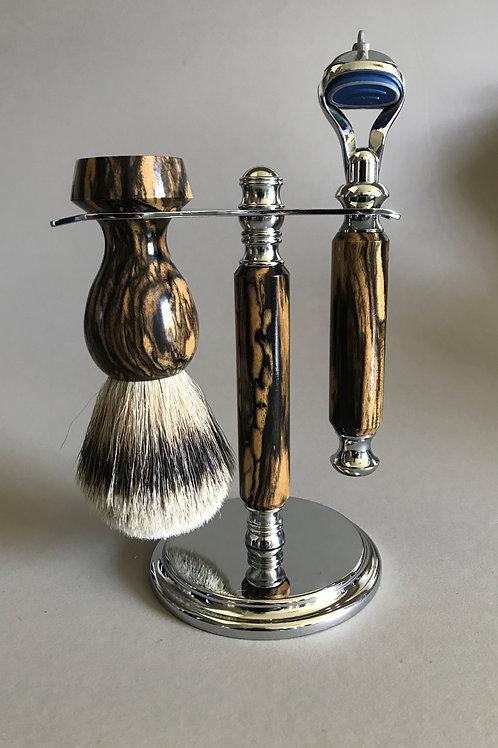 Black and White Ebony Shave Set