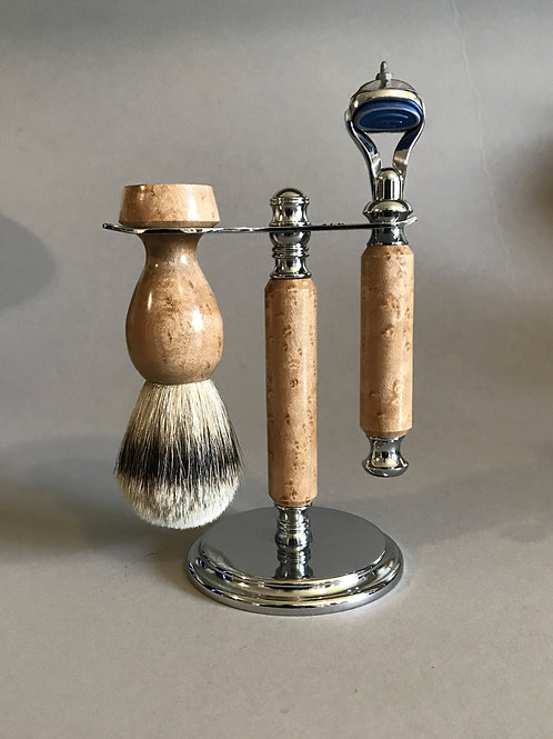 Bird's Eye Maple Shave Set