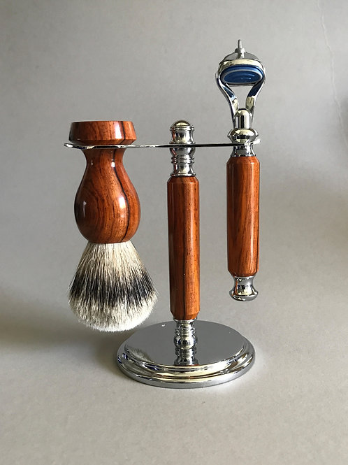 Cocobolo (rosewood) Shave Set