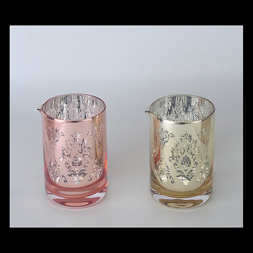 Seamless 600ml Bar Cocktail Mixing Glass -Copper-Gold Version