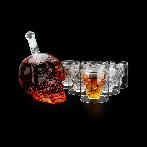Crystal Skull Head Shot Glasses Cup Set 700ml