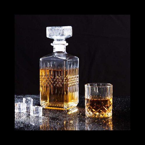 Whiskey and Liqour Pourer Bottle with Glass Cup