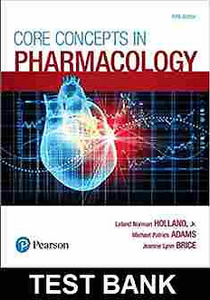 Core Concepts in Pharmacology 5th Edition Holland Test Bank