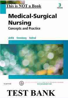 Medical Surgical Nursing Concepts and Practice 3rd Edition deWit Test Bank
