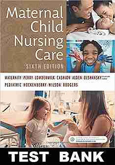 Maternal Child Nursing Care 6th Edition Perry Test Bank