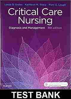 Critical Care Nursing 8th Edition Urden TEST BANK