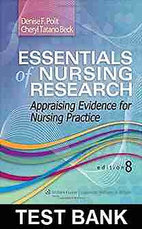 Essentials of Nursing Research 8th Edition Polit, Beck Test Bank World