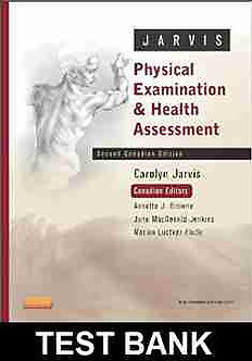 Physical Examination and Health Assessment 2nd Canadian Edition Jarvis TEST BANK