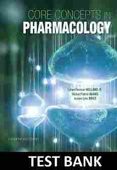 Core Concepts in Pharmacology 4th Edition Holland Test Bank