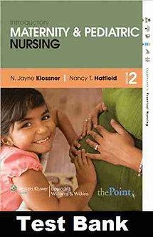 Introductory Maternity Pediatric Nursing 2nd Edition Hatfield Test Bank