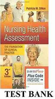 Test Bank Nursing Health Assessment 3rd Edition Dillon