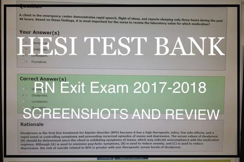 Hesi Exit Exam RN