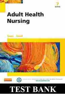 Adult Health Nursing 7th Edition Cooper Test Bank