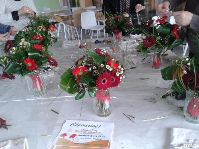 Atelier floral Saint Valentin 2017