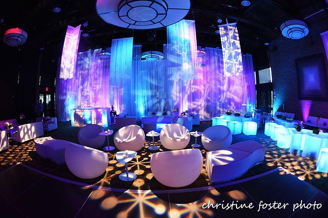Bat Mizvah decor and lighting Philadelphia