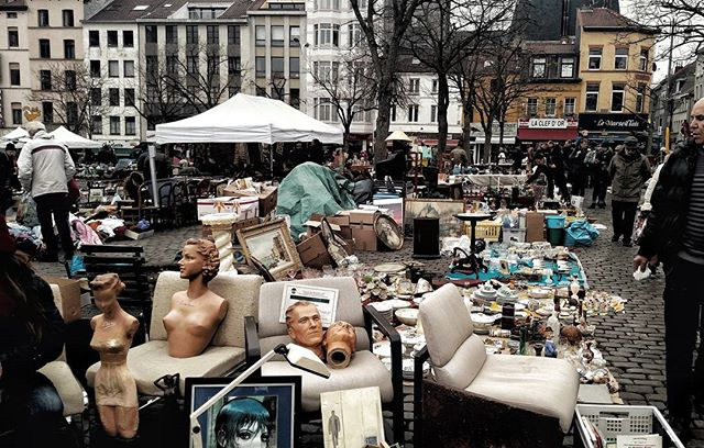 Flea Market in brussels.