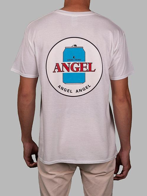 """""""ANGEL TEARS"""" Tee in White"""