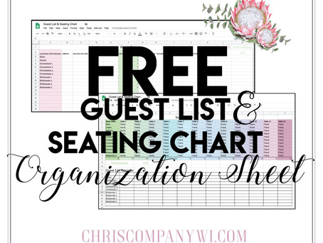 Free Seating Chart and guest list organization sheet