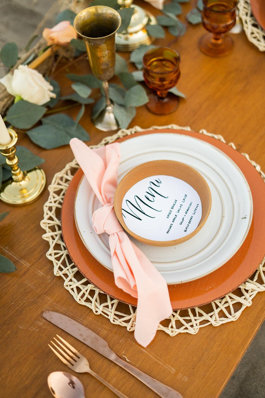custom wedding menu card for reception